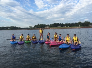 group paddle boarding with East Coast Paddle Adventures
